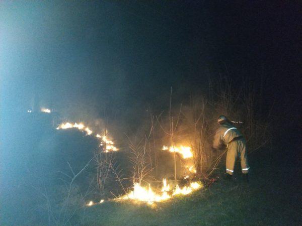 В Александрии горело 100 кв. метров травы, а в районе – 150 кг сена
