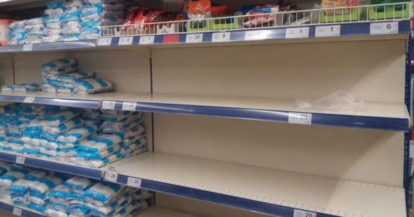 Из-за паники дефицит некоторых товаров создали сами жители