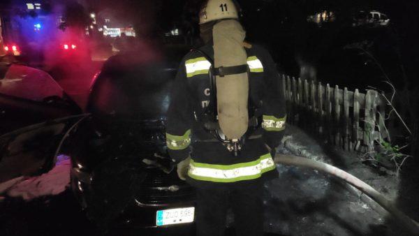 В Александрии горел автомобиль