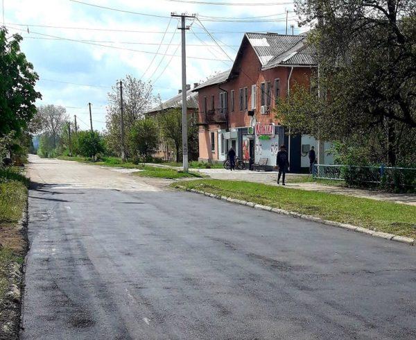 В поселке Александрийское отремонтировали несколько дорог