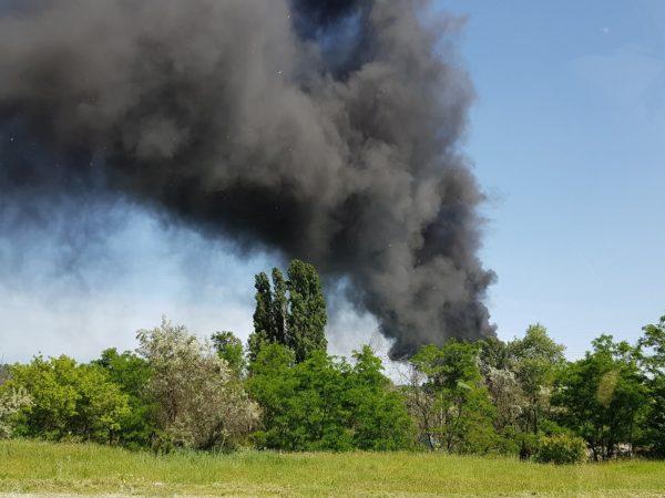 В Александрии повторился пожар, дым от которого видел почти весь город