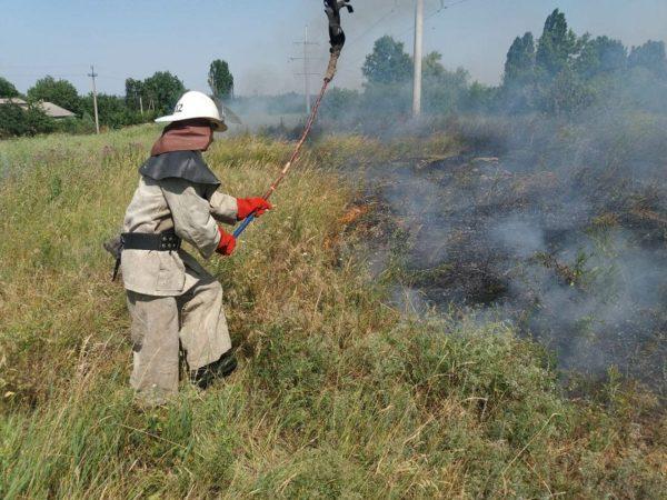 В Александрийском районе горел гектар пшеницы