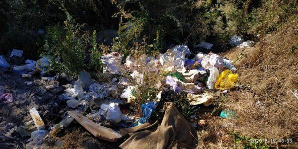 В Александрии мужчина выбрасывал в реку мешки мусора (ФОТО)