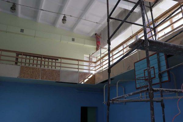 В александрийских школах ремонтируют спортзалы (ФОТО)