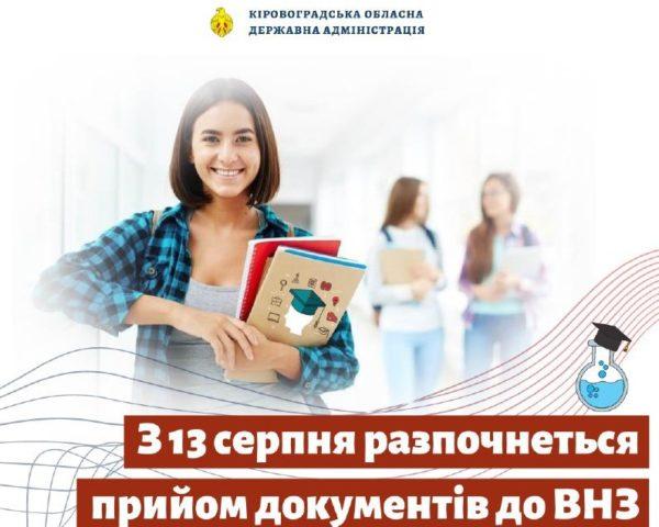 Вступительная кампания в ВУЗы Кировоградской области началась позже, чем обычно