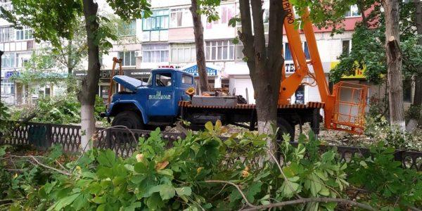 По проспекту Соборному частично перекрыт тротуар (ФОТО)