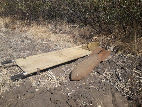 В Александрии саперы нашли авиабомбу