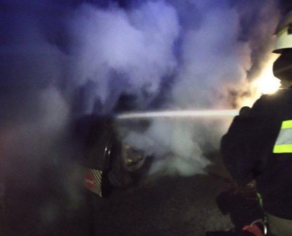 В Александрии на улице Первомайской горела грузовая машина «MAN»
