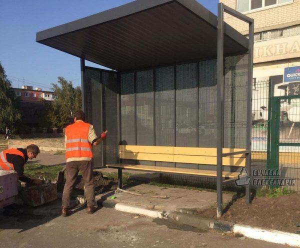 В Александрии установили новые автобусные остановки