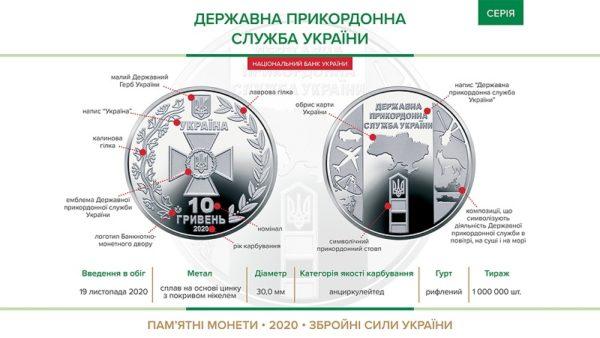 Завтра в Украине вводится в обращение новая монета номиналом 10 гривен