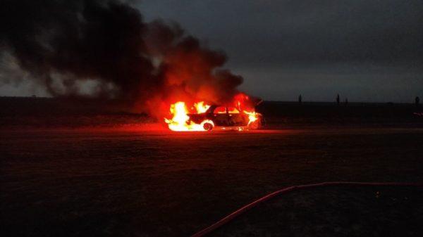 В Александрийском районе загорелся Mercedes-Benz