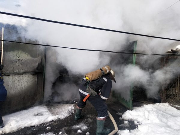 В Александрии горела баня