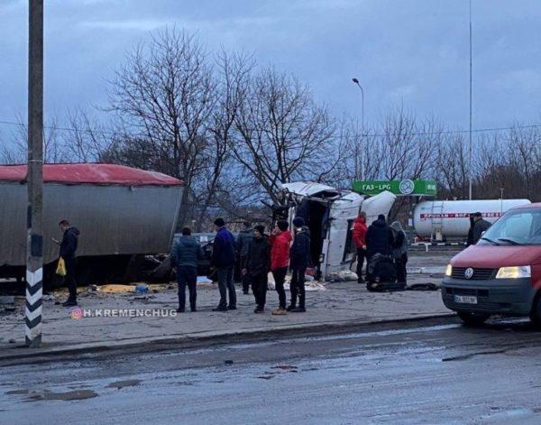 На трассе «Полтава-Александрия» произошло тройное ДТП, среди пострадавших - двое детей (ФОТО)