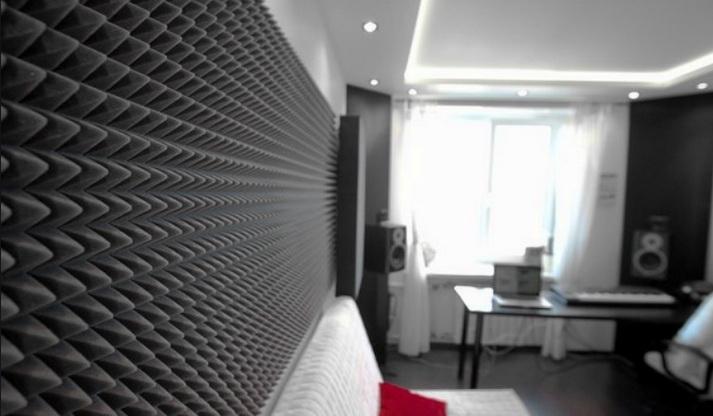Акустическая коррекция помещений звукоизоляционным поролоном