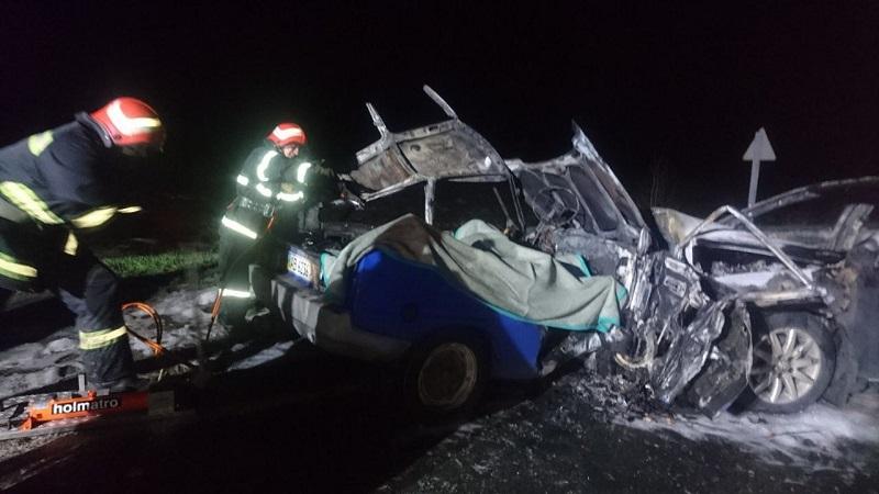 В Кировоградской области в ДТП загорелись «Таврия» и «Volkswagen Passat», погибли три человека (ФОТО)
