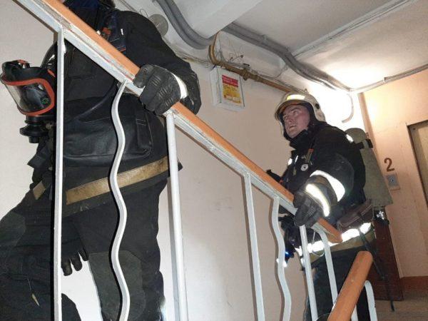 На 8-м этаже дома на Соборном проспекте возник пожар счетчика электроэнергии