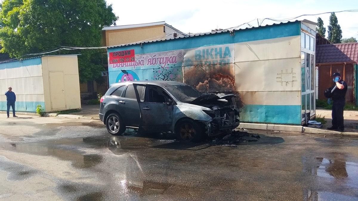 В Александрии сгорел автомобиль директора центрального рынка Александра Кияшко