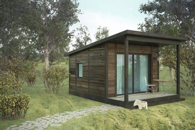 модульный дом для сада