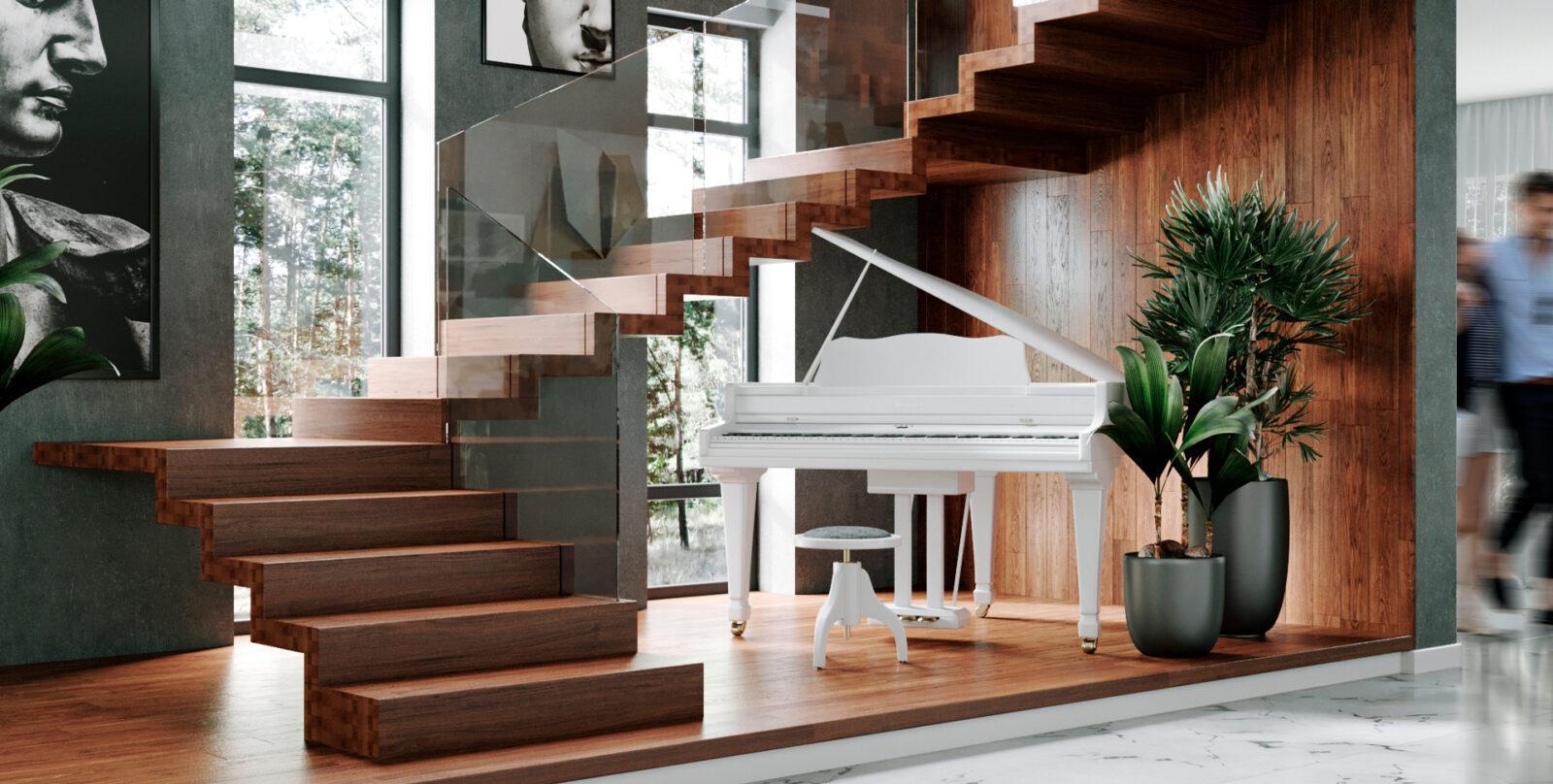 дизайн проект лестницы на 2 этаж