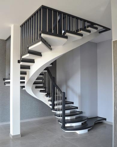 винтовая дизайнерская лестница