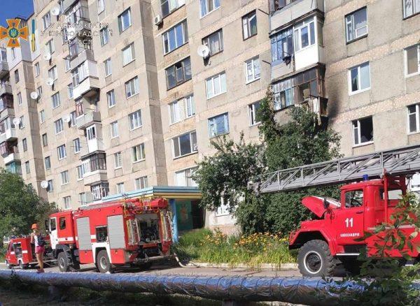 В Александрии в девятиэтажке горел балкон, в Приютовке – постройка в частном секторе (ФОТО)
