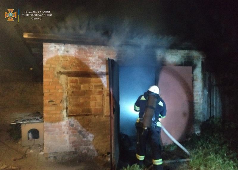 Ночью в Александрии горел гараж