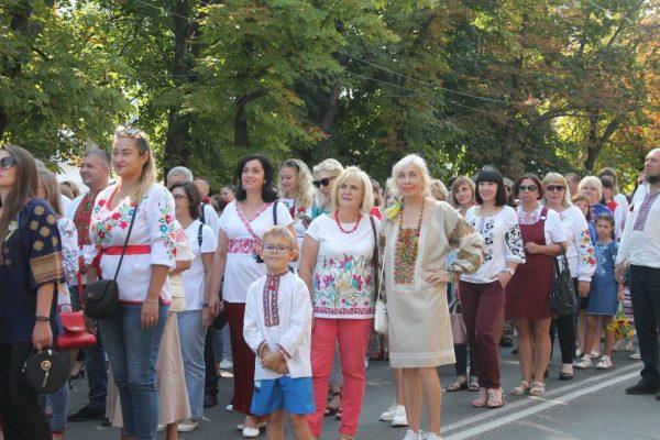 В Александрии состоялся парад вышиванок и церемония поднятия Государственного Флага Украины