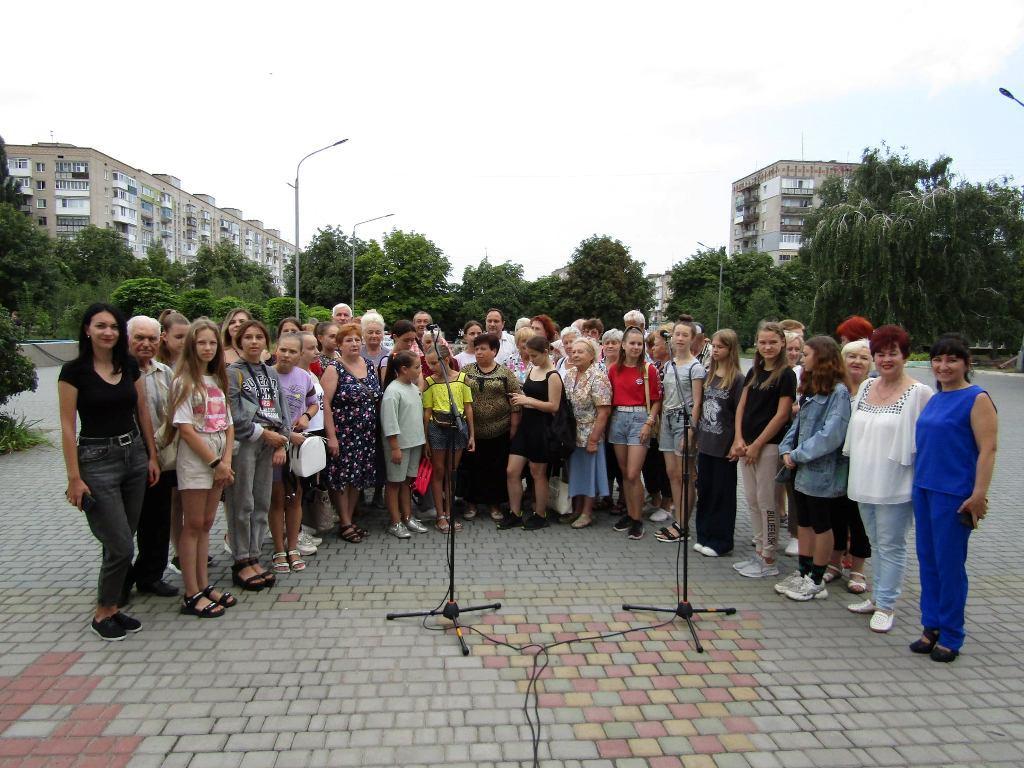 В Александрии состоялась очередная репетиция в рамках подготовки к установлению рекорда Украины (ФОТО)
