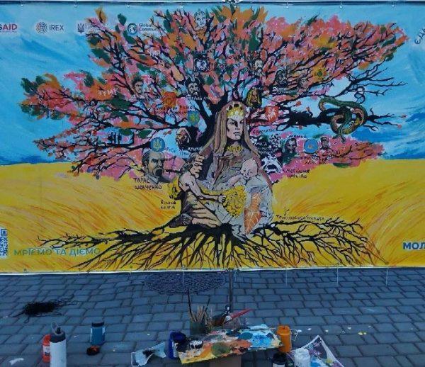 Стартовало всеукраинское голосование за лучший рисунок, который может стать муралом на здании Александрии